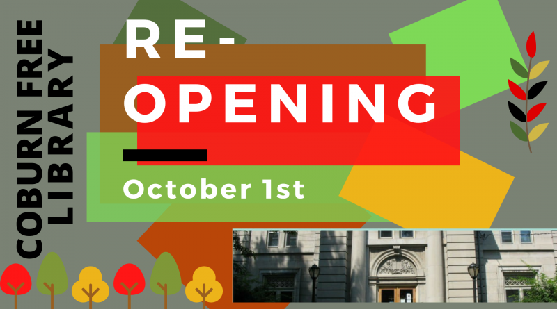 The Building Re-opens on October 1st