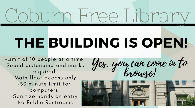 The Library Building Is Open!