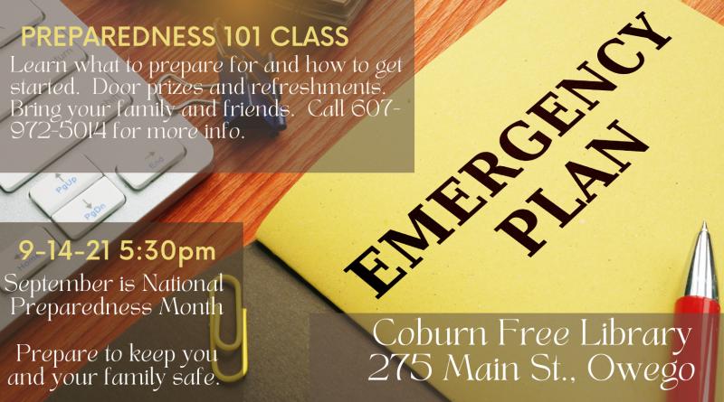 Preparedness 101 Class